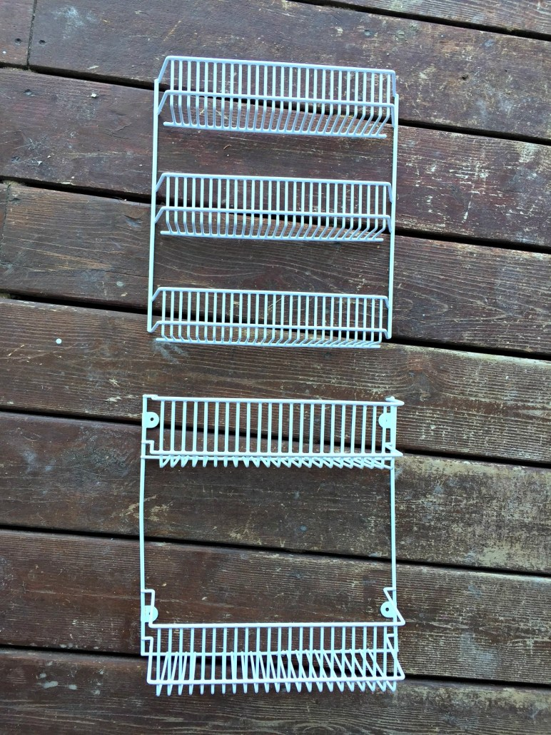 Upcycled Bookshelf. See how I transformed this wire spice rack into a kids one of a kind bookshelf