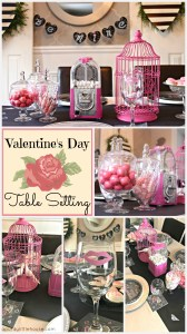 Valentine's Day Table Setting