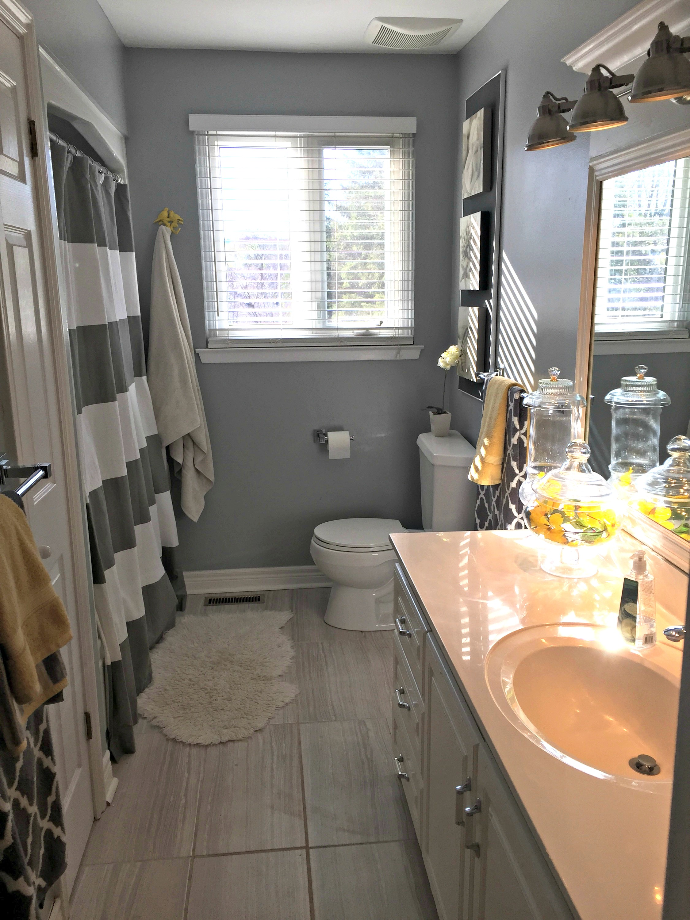 kids bathroom remodel see how to transform an entire space using new flooring paint