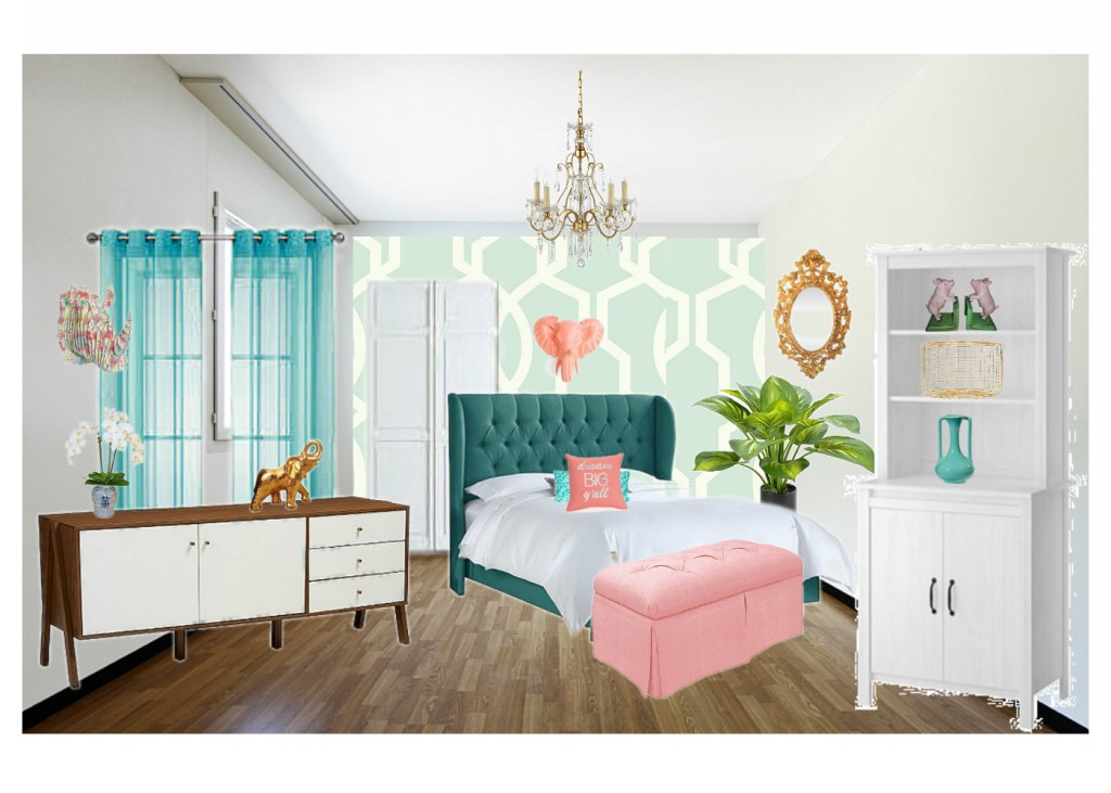 Girls Bedroom Makeover Week 2 One Room Challenge - Mood Board