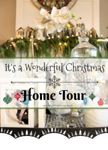 It's a wonderful christmas home tour and blog hop