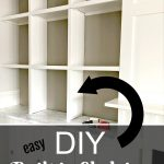 How to Create DIY Built In Shelving