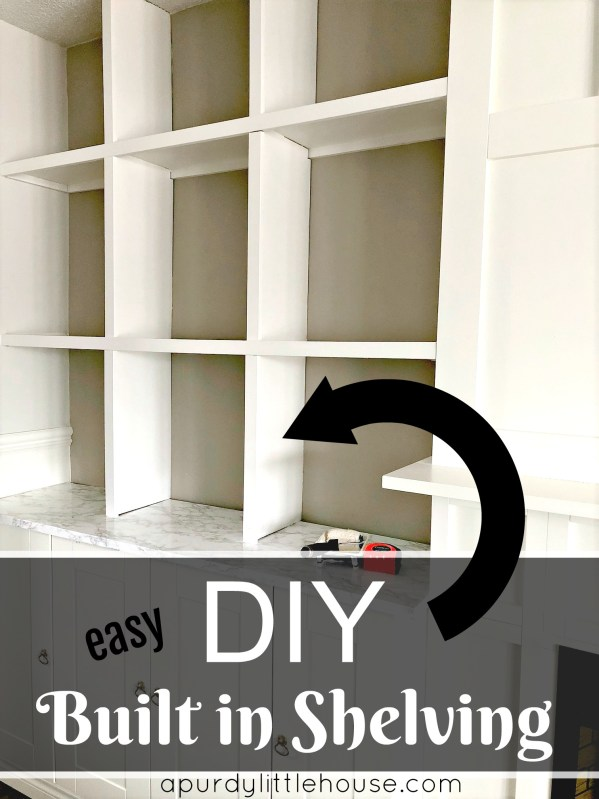 Easy DIY Built in Shelving / How to build custom shelving around a fireplace