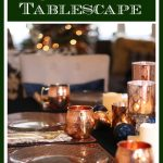 Green & Copper Christmas Tablescape