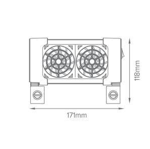2 fan measurement