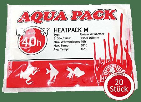 bolsa calentadora peces, Heatpacks: Bolsas calefactoras para peces