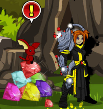 how to get dark gem aqw