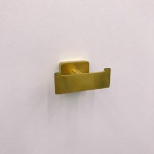 Elements Striking TVA15201200076 Крючок двойной настенный, золотой сатинированный