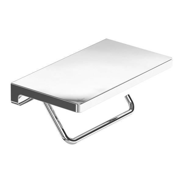 Elements Striking TVA15202300061 Держатель туалетной бумаги с полкой, хром