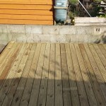 Decking in Bath finished to wall