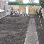 Garden with pond re-profiled