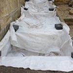 Underlay protects the water feature from beneath against subsidence and penetration