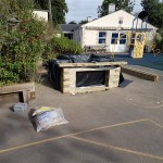 Flexible liner for raised timber school pond project