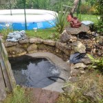 Pond re-line Bristol: Low water due ti ponk liner leak