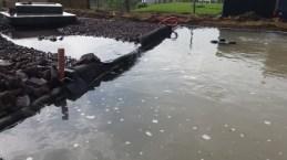 Lagunage chute d'eau