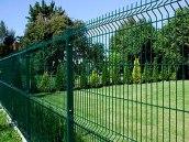 clôture-metal-vert