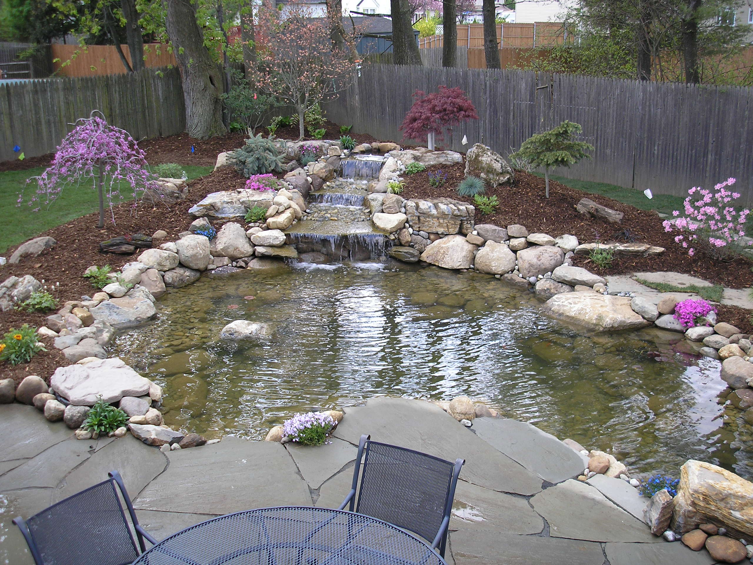 Ponds and Waterfalls on Small Backyard Pond With Waterfall  id=70054