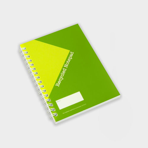 A6 Wirebound Full colour Notebook – Recycled