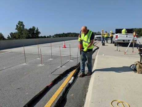AquaGuard crew working on roadway