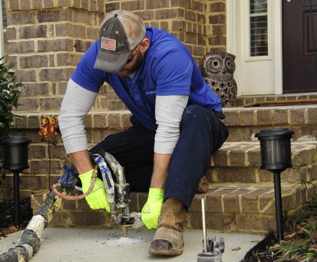Woodstock Homeowner Fixes Stoop & Driveway With PolyRenewal