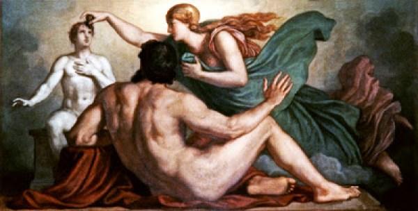 Prometheus Athena Creation of Mankind Griepenkerl,_Beseelung_der_menschlichen_Tonfigur_durch_Athena