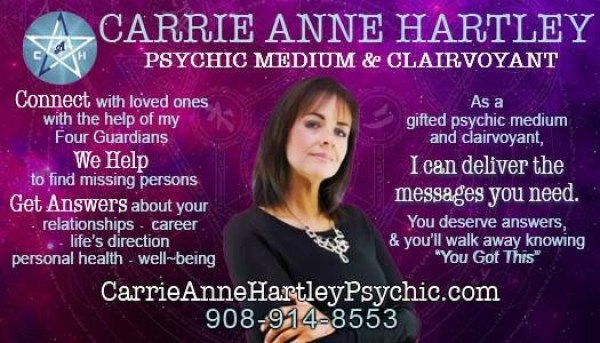 Carrie Ann Hartley business new card