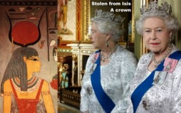 Stolen from Isis. A crown. Queen Elizabeth II.