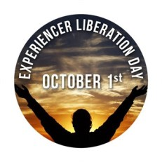 Button, EXPERIENCER LIBERATION DAY, October 1st