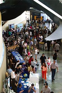 The Great Hall during Earth Day Celebration