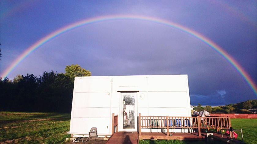 Rainbow over the club house 14 Sept 2017