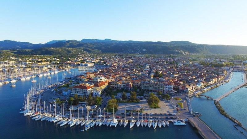 Lefkada Town Aerial