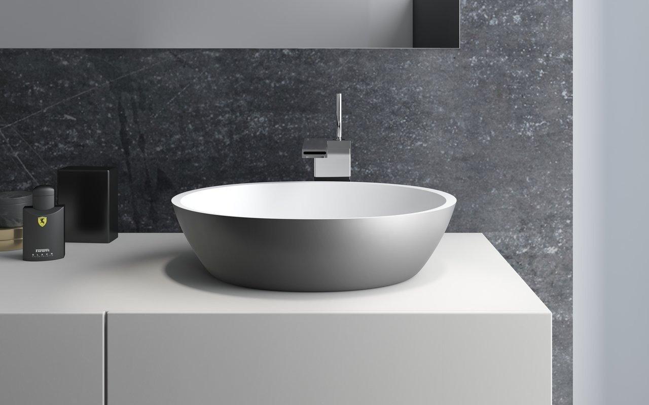 aquatica sensuality gunmetal wht stone bathroom vessel sink