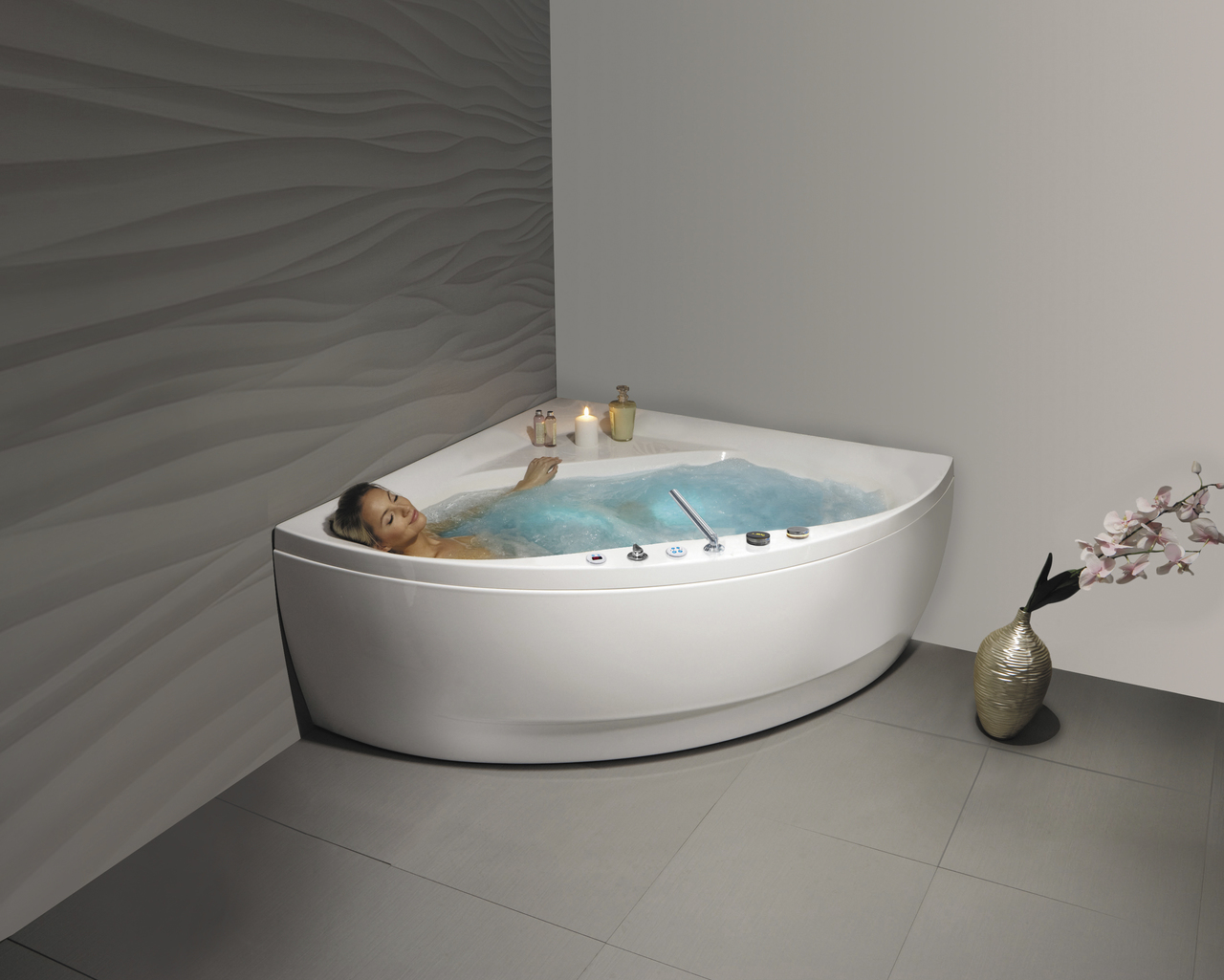 Aquatica Olivia Wht HydroRelax Jetted Bathtub US Version