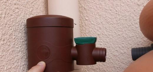 Installation d'un récupérateur d'eau de pluie aérien