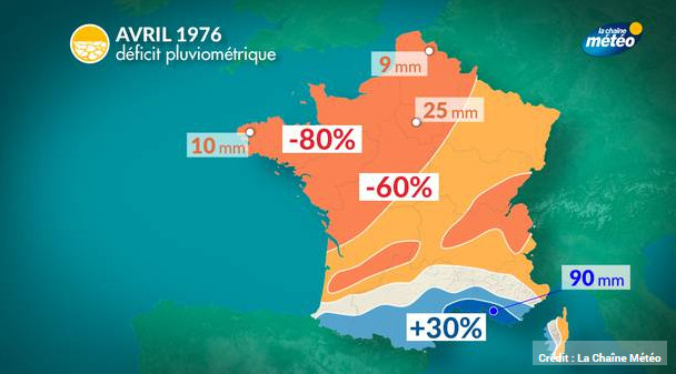 Déficite de pluviométrie en France avril 2017
