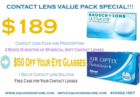 Contact Lens Value Pack Special – Air Optix & Bausch Lomb