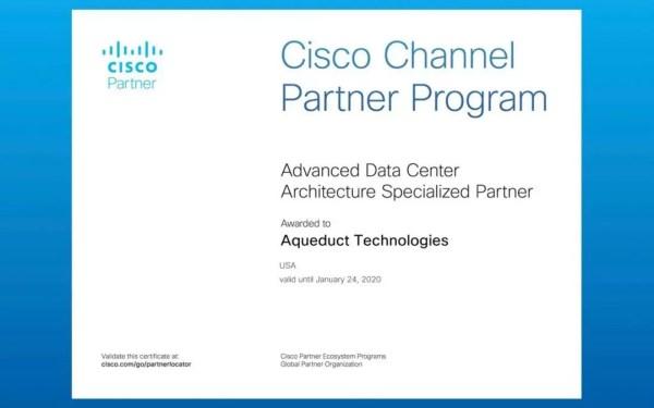 Aqueduct Recertifies Cisco Advanced Data Center ...