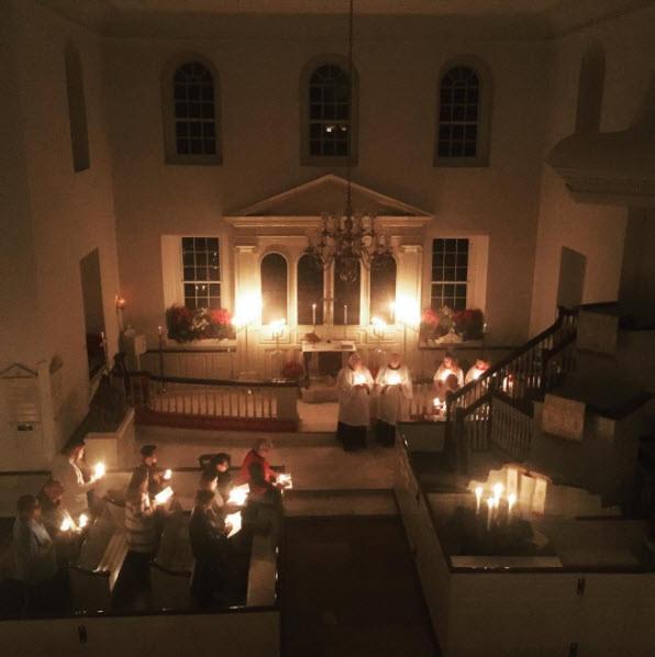 Aquia Episcopal Church Lit by Candles