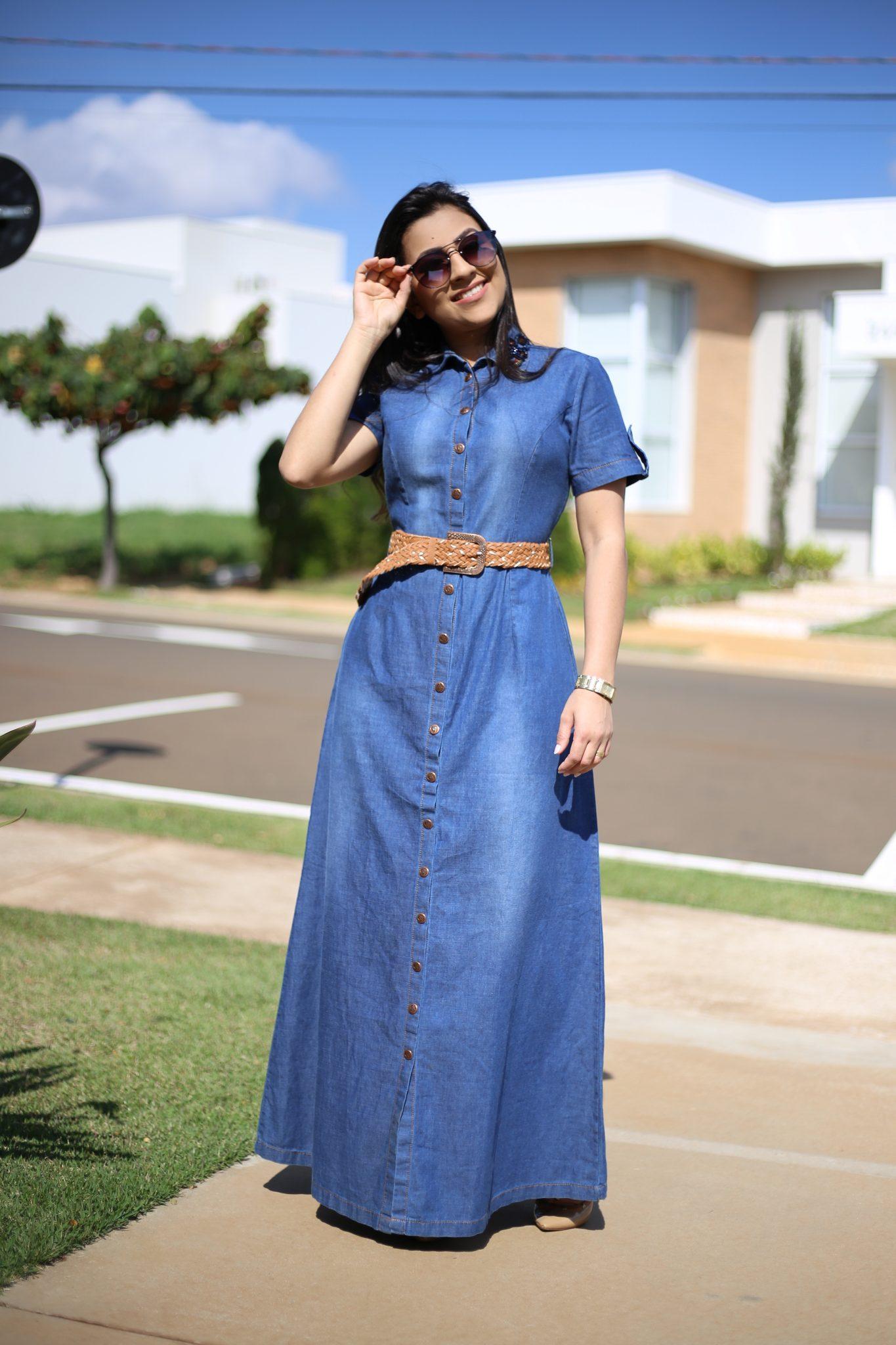 Vestido Jeans Longo Adriana áquila Tauheny Store