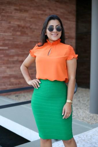 Saia Bandagem Verde em Áquila Tauheny Store | Moda Evangélica