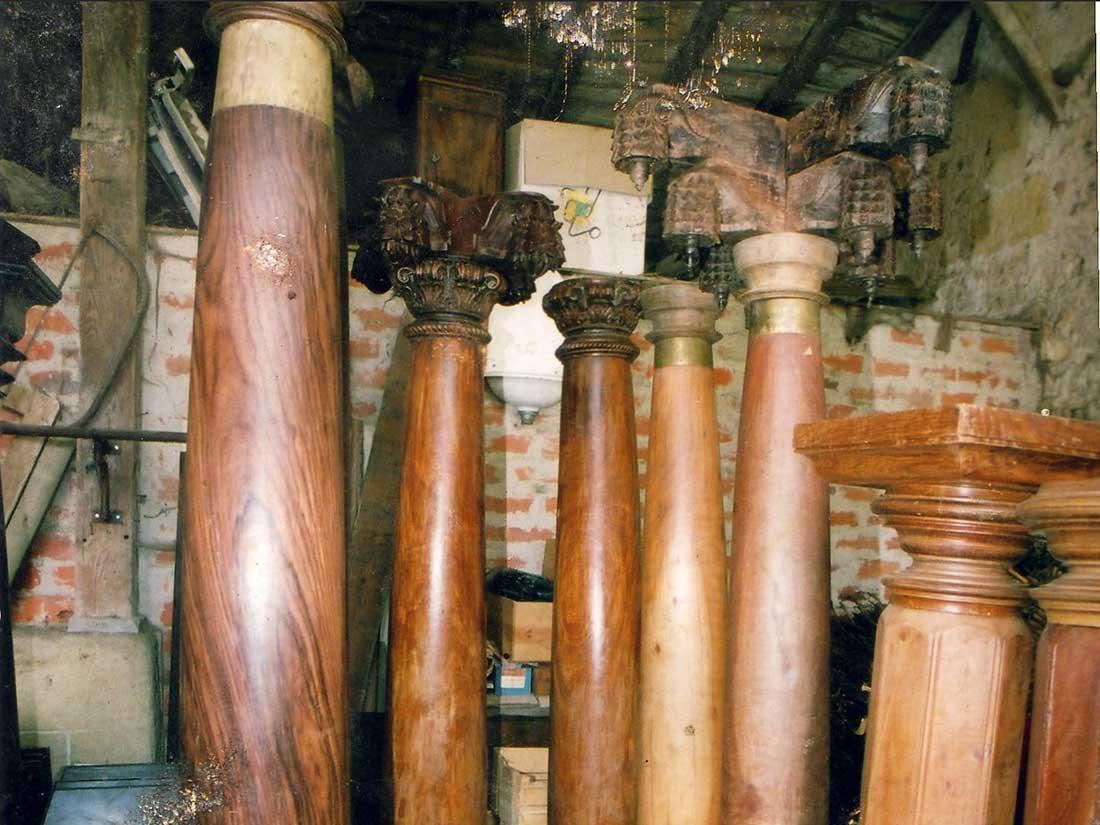 colonnes en bois exotique aquimat