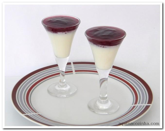Resultado de imagem para panacota com calda de vinho