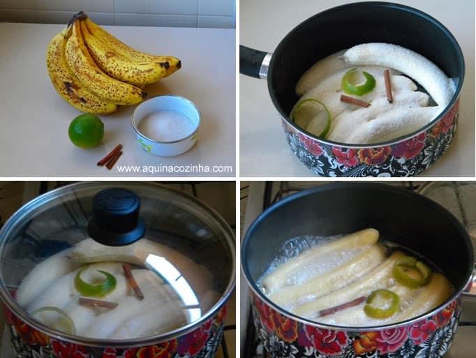 Como fazer banana abafada