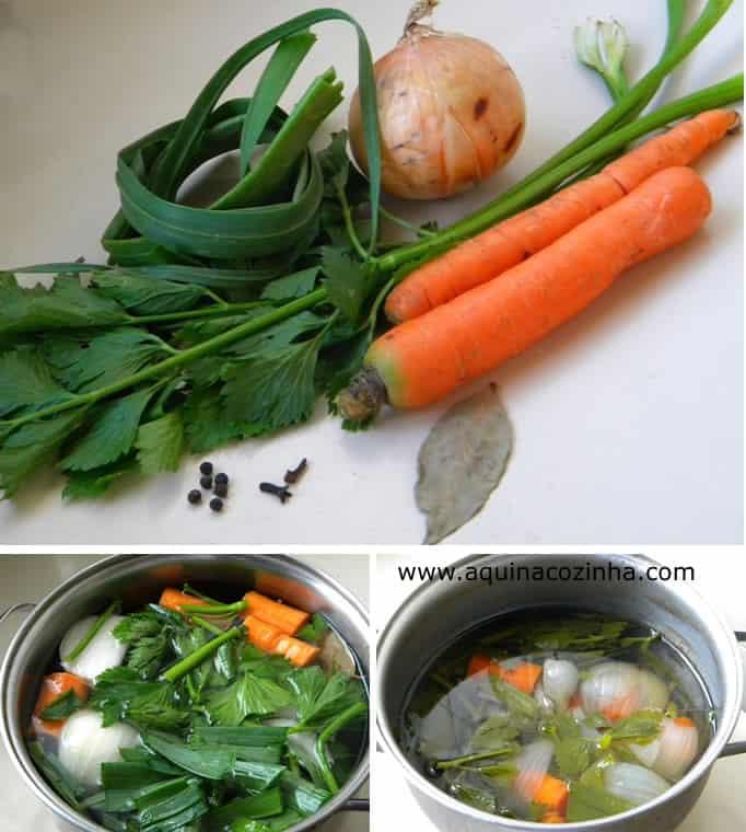 Caldo de legumes receita