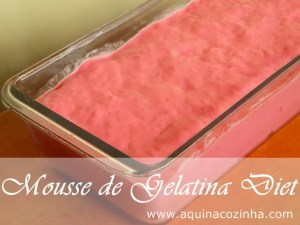 Mousse de gelatina diet