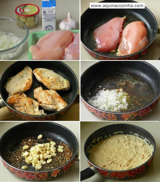 Peito de frango com molho cremoso de champignon