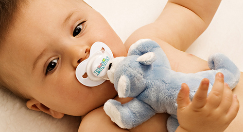Huggable baby pacifier