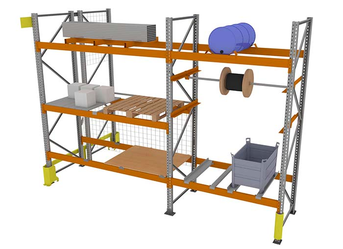 industrial racking components and