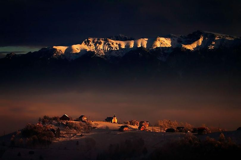 The-Contrast-of-Darkness-and-Light-At-Bucegi-Mountains-in-Romanian