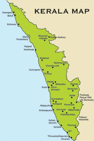 خريطة كيرلا